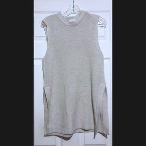Aritzia Wilfred Italian Yarn Beige Sweater Tunic